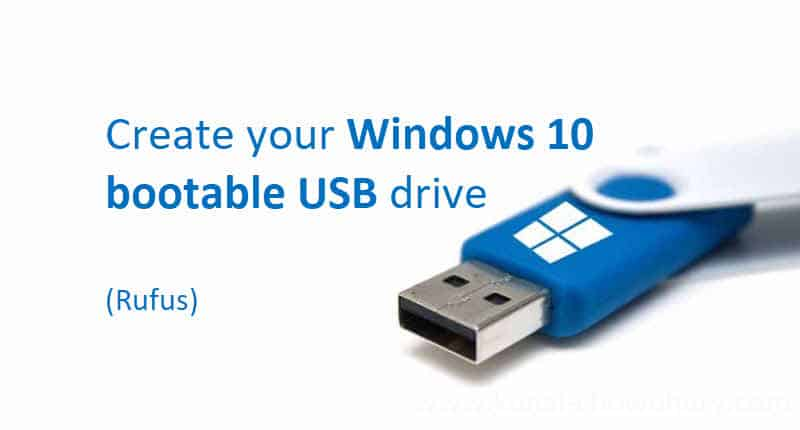 create bootable USB drives using rufus